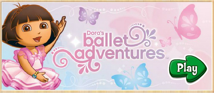Dora's Balet adventures -Даша и обезьянка башмачок танцуют в балете