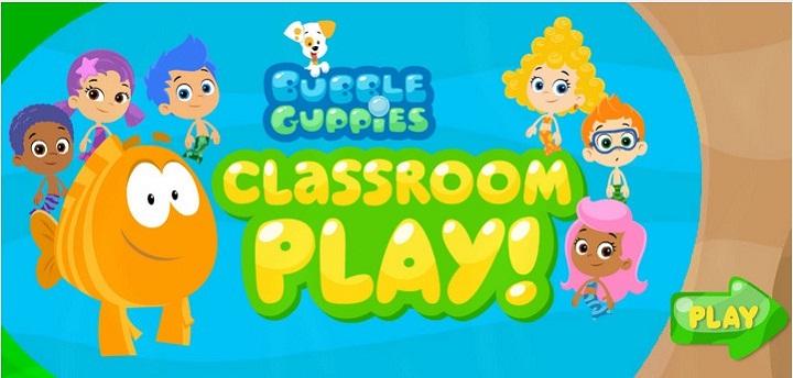 Гуппи и пузырики. Классная комната - Обставьте классную комнату предметами, которые можно увеличивать и уменьшать. Чтобы очистить картинку, нажмите на мусорное ведро