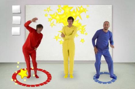 Улица Сезам. Получи новый цвет -Какие цвета можно получить, если смешать три основных цвета - красный, желтый и синий?