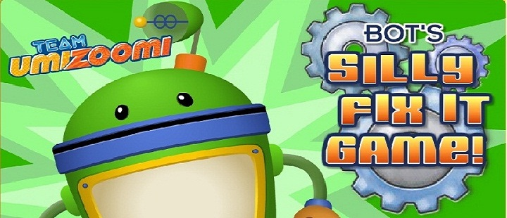 Team Umizoomi. Bot's silly fix it game